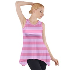 Fabric Baby Pink Shades Pale Side Drop Tank Tunic