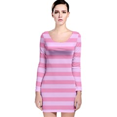 Fabric Baby Pink Shades Pale Long Sleeve Velvet Bodycon Dress