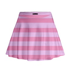 Fabric Baby Pink Shades Pale Mini Flare Skirt