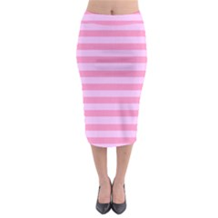 Fabric Baby Pink Shades Pale Midi Pencil Skirt