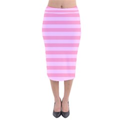 Fabric Baby Pink Shades Pale Velvet Midi Pencil Skirt