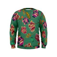 Flowers Pattern Kids  Sweatshirt