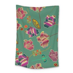 Flowers Pattern Small Tapestry