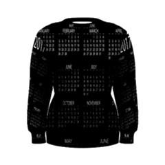 Full 2017 Calendar Vector Women s Sweatshirt