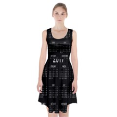 Full 2017 Calendar Vector Racerback Midi Dress