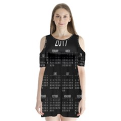 Full 2017 Calendar Vector Shoulder Cutout Velvet  One Piece