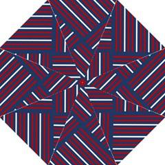 Geometric Background Stripes Red White Folding Umbrellas