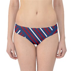 Geometric Background Stripes Red White Hipster Bikini Bottoms