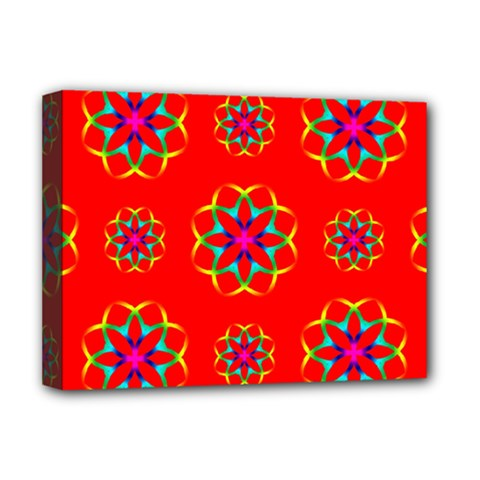 Geometric Circles Seamless Pattern Deluxe Canvas 16  x 12