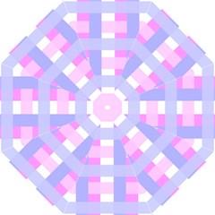 Gingham Checkered Texture Pattern Straight Umbrellas