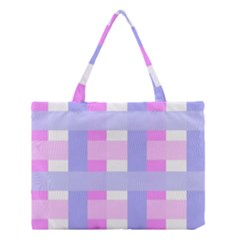 Gingham Checkered Texture Pattern Medium Tote Bag