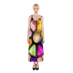 Glass Colorful Stained Glass Sleeveless Maxi Dress