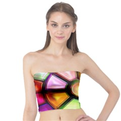 Glass Colorful Stained Glass Tube Top