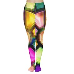 Glass Colorful Stained Glass Women s Tights