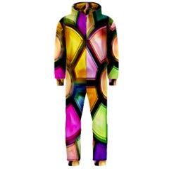 Glass Colorful Stained Glass Hooded Jumpsuit (Men)