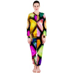 Glass Colorful Stained Glass OnePiece Jumpsuit (Ladies)
