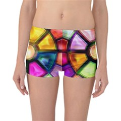 Glass Colorful Stained Glass Reversible Bikini Bottoms