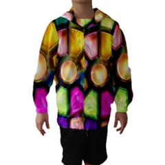 Glass Colorful Stained Glass Hooded Wind Breaker (Kids)