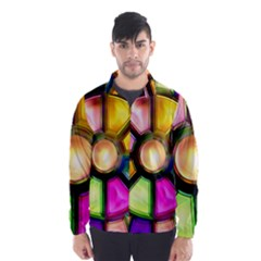 Glass Colorful Stained Glass Wind Breaker (Men)