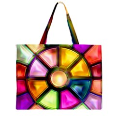 Glass Colorful Stained Glass Large Tote Bag