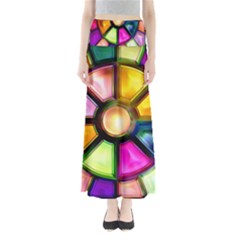 Glass Colorful Stained Glass Maxi Skirts