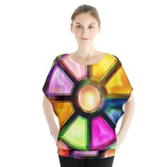 Glass Colorful Stained Glass Blouse
