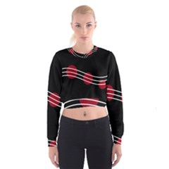 Elegant abstraction Women s Cropped Sweatshirt