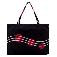 Elegant abstraction Medium Zipper Tote Bag