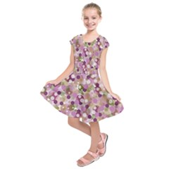 Colorful bubbles Kids  Short Sleeve Dress