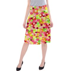 Playful bubbles Midi Beach Skirt