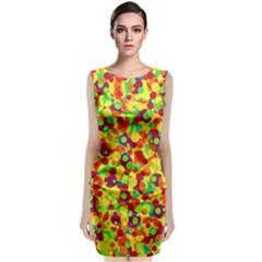 Bubbles pattern Classic Sleeveless Midi Dress