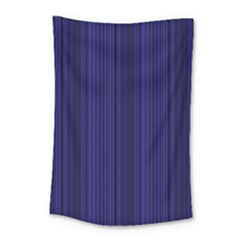 Deep Blue Lines Small Tapestry