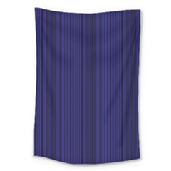 Deep Blue Lines Large Tapestry
