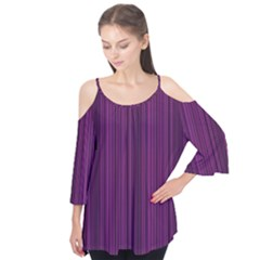Deep purple lines Flutter Tees
