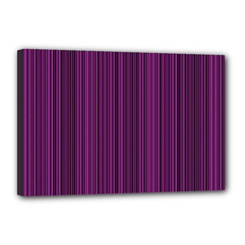 Deep purple lines Canvas 18  x 12