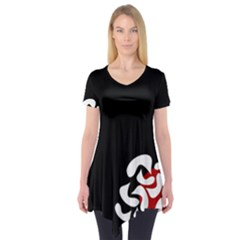 Elegant abstraction Short Sleeve Tunic