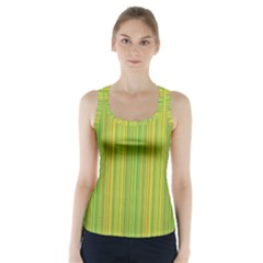 Green lines Racer Back Sports Top