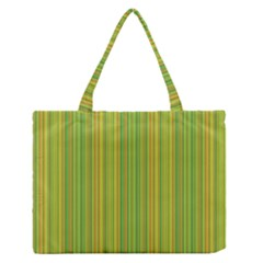 Green lines Medium Zipper Tote Bag