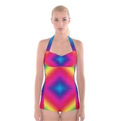 Hippie  Boyleg Halter Swimsuit