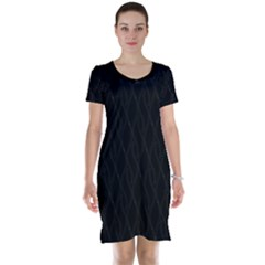 Black Pattern Short Sleeve Nightdress