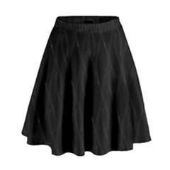 Black pattern High Waist Skirt