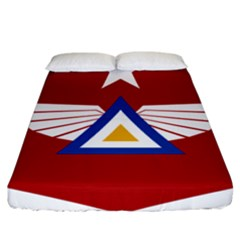 Emblem Of The Myanmar Air Force Fitted Sheet (california King Size)
