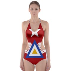 Emblem of The Myanmar Air Force Cut-Out One Piece Swimsuit