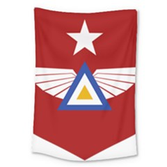 Emblem Of The Myanmar Air Force Large Tapestry