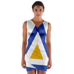 Roundel of The Myanmar Air Force Wrap Front Bodycon Dress