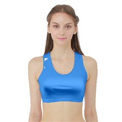 Flag of The Myanmar Air Force Sports Bra with Border