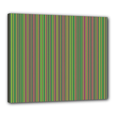 Green lines Canvas 24  x 20
