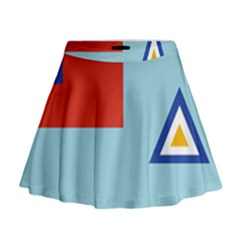 Air Force Ensign ,f Burma, 1948-1974 Mini Flare Skirt