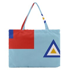 Air Force Ensign ,f Burma, 1948-1974 Medium Zipper Tote Bag