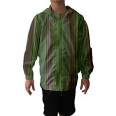 Green lines Hooded Wind Breaker (Kids)